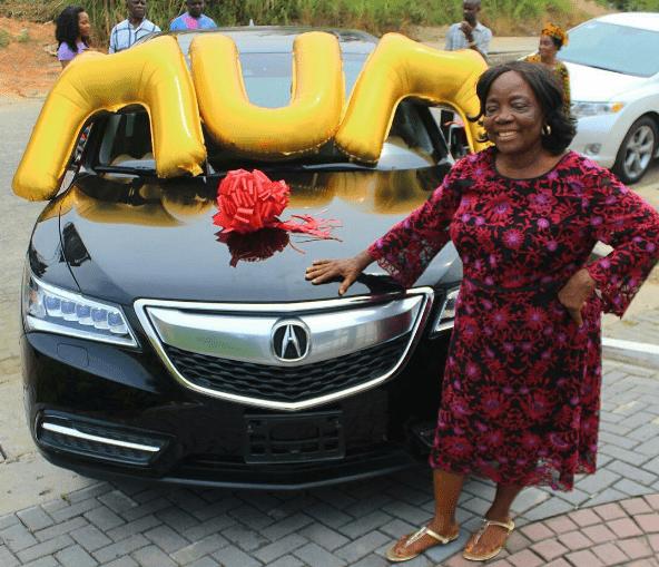 Linda Ikeji Mum Acura MDX