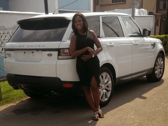 Linda Ikeji Range Rover Sport 2014